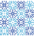 Cross stitch ornament traditional embroidery vector image