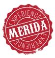 Merida stamp rubber grunge vector image
