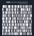 silver gradientpatterntemplateset of colors for vector image