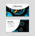 abstract layout background set for art vector image