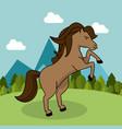cute horse adorable landscape natural vector image