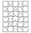 white puzzle separate parts vector image