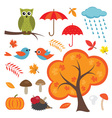 Colorful Autumn Set vector image