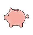 piggy savings isolated icon vector image vector image