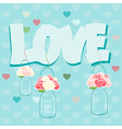 Declaration of Love card design vector image vector image