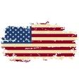 American grunge flag vector image