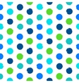 Polka dot pattern in green vector image