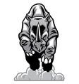 charging rhino vector image