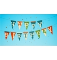 Happy birthday garland vector image