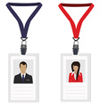 Two employee badges vector image