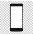 Black smart phone isolated on transparent vector image