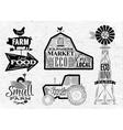 Farm vintage vector image
