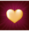 gold heart vector image