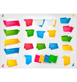 huge set of colorful origami paper banners vector image