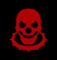 red bald skull clown head logo emblem symbol vector image