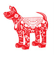 red dog chinese new year zodiac symbol 2018 vector image
