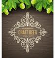 Flourishes beer emblem vector image