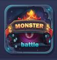 monster battle gui icon vector image