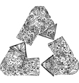 Black and white recycle arrows vector image