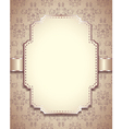 retro frame vertical background vector image vector image