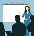 Working woman with presentation board vector image vector image