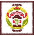 Mexican food tacos and burritos menu poster vector image vector image