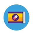 Pills pack blister icon of medication vector image