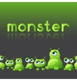 Abstract background with cute monsters vector image