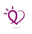 abstract love heart symbol logo vector image