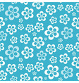 Abstract Retro Seamless Blue Flower Pattern - vector image
