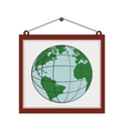 billboard globe earth map poster icon vector image