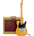 guitar and amp icon vector image