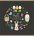 happy easter congratulation card vector image
