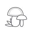 mushroom line icon sign on vector image