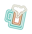 neon beer icon vector image