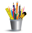 Painting tool in office isolated on white vector image
