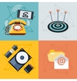 Set icons for web and mobile applications vector image