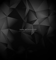 triangle low poly dark background vector image