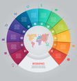 12 options pie chart template for graphs vector image