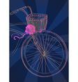 Dark Background with bike vector image