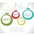 Christmas sale balls with snowflake vector image
