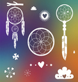 Dreamcatcher designs on blurred background vector image