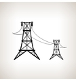 Silhouette high voltage power lines vector image