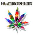 Colorful marijuana vector image vector image