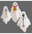 funny cartoon ghost vector image