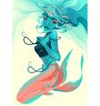 Portrait of a mermaid vector image