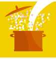 soup pot vector image