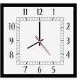 Square wall clock vector image