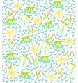 colorful background with spring flowers vector image