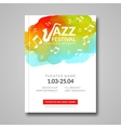 musical poster design Watercolor stain vector image